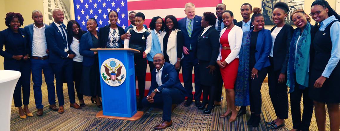 Nineteen Batswana Mandela Washington Fellows Depart for United States