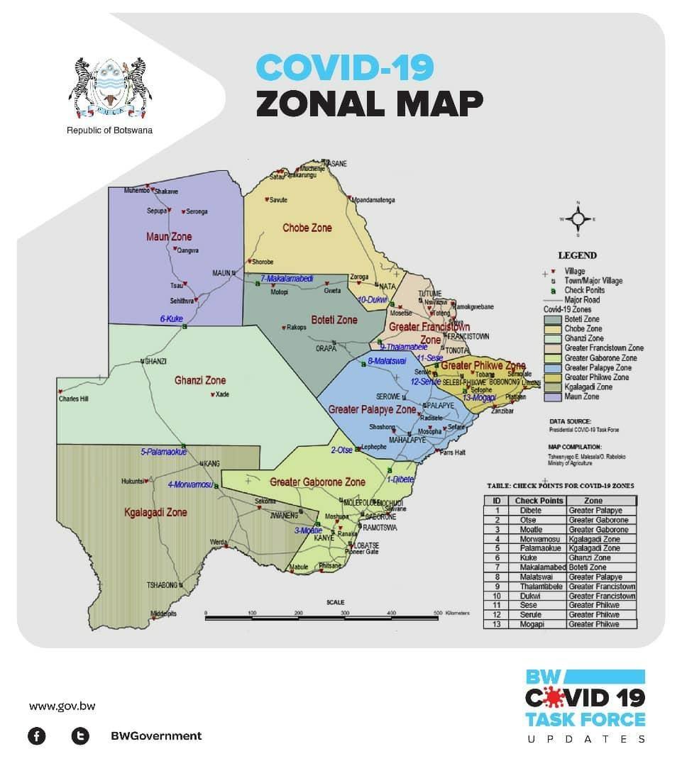Covid Map: U.S. Embassy In Botswana