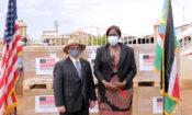 U.S. Embassy Juba' Charge d'Affaires a.i. David Renz and South Sudan Minister of Health Elizabeth Achuei