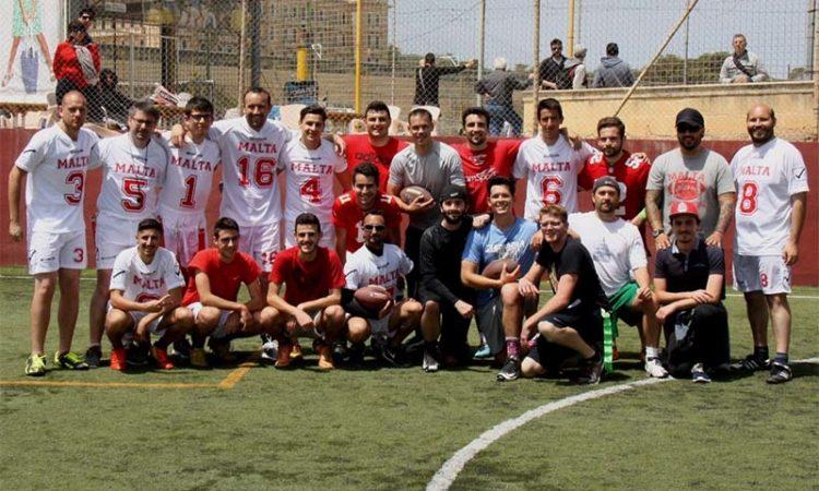 American Football group photo