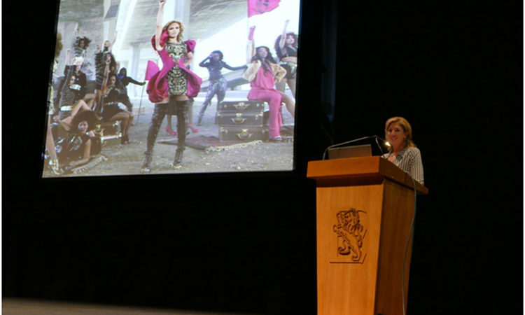Dr. Babcock-Lumish spoke to Year 13 girls at Epsom Girls Grammar. Photo credit: U.S. Department of State.