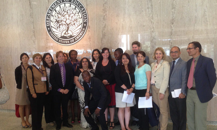 SUSI program participants from around the world: at the U.S. Department of Education. Photo credit: Andrea.