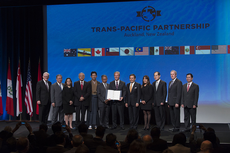 The signing of the TPP in Auckland, New Zealand. Photo credit: U.S. Department of State.