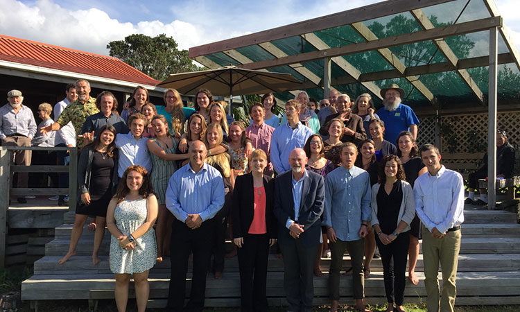 Consul General Higgins (center) with EcoQuest students and stakeholders at end of year presentations. Photo credit U.S. Department of State.