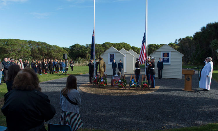 U.S. Ambassador Mark Gilbert attended and gave remarks at the Memorial Day Service at Queen Elizabeth Park, Paekakariki.