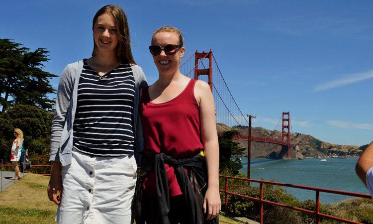 April and Samantha exploring San Francisco. Photo credit: April.