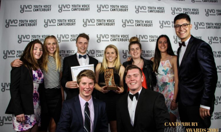 Winners with Josiah. Photo credit: Canterbury Youth Awards.
