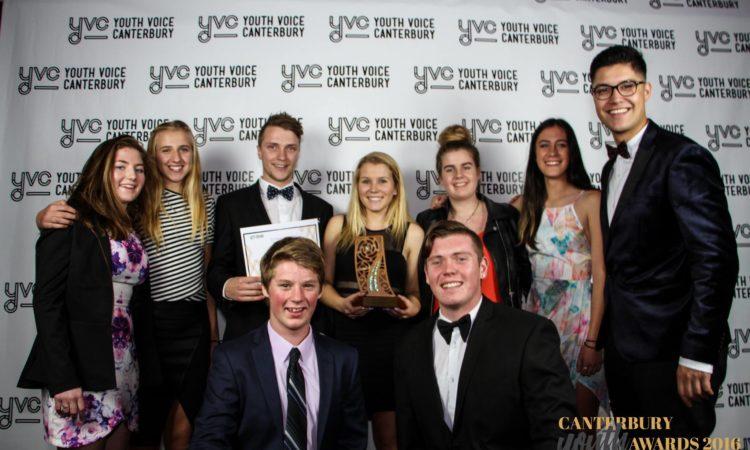Winners with Josiah. Photo credit: Canterbury Youth Awards.