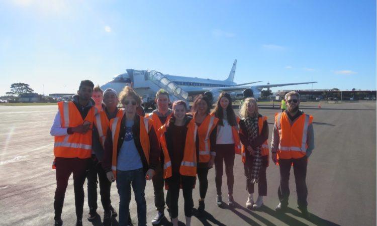 The ATOM DC-8 and the student crew - Photo credit - J Tualamali'i.