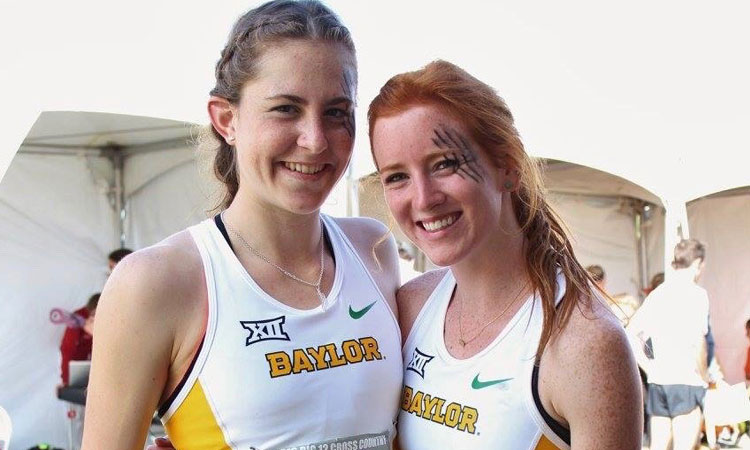 Alison and teammate Gabrielle Satterlee. Photo Credit: Lindsey Bradley.