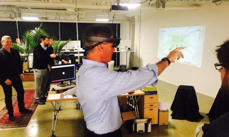 Ambassador Brown trying our Virtual Reality at ProjectR. Photo credit: U.S. Department of State.