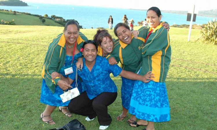 Ana and the team of young people she led to attend the Pan Pacific HIV STI Conference in New Zealand in 2005. Photo credit: Ana File-Heather.