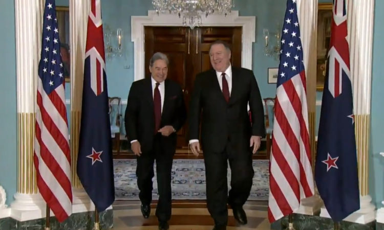 Secretary Michael R. Pompeo met today with New Zealand Foreign Minister Winston Peters at the Department of State.
