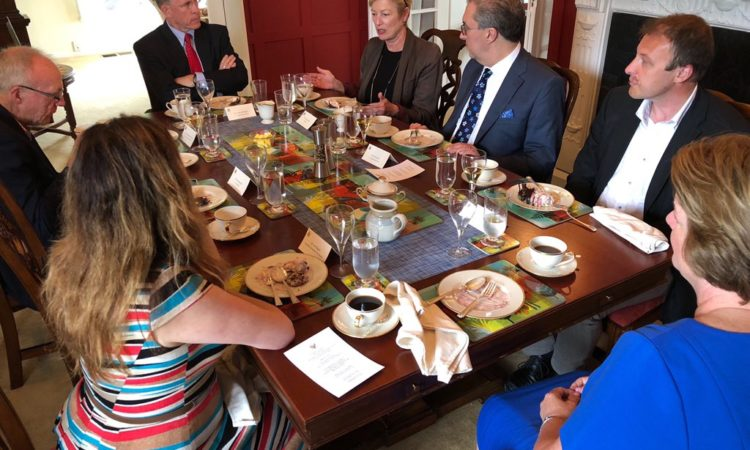PDAS W. Patrick Murphy luncheon with strategic thinkers of #NewZealand showcased the strong ties, global cooperation, and friendship between our countries. Photo credit: U.S. Department of State).