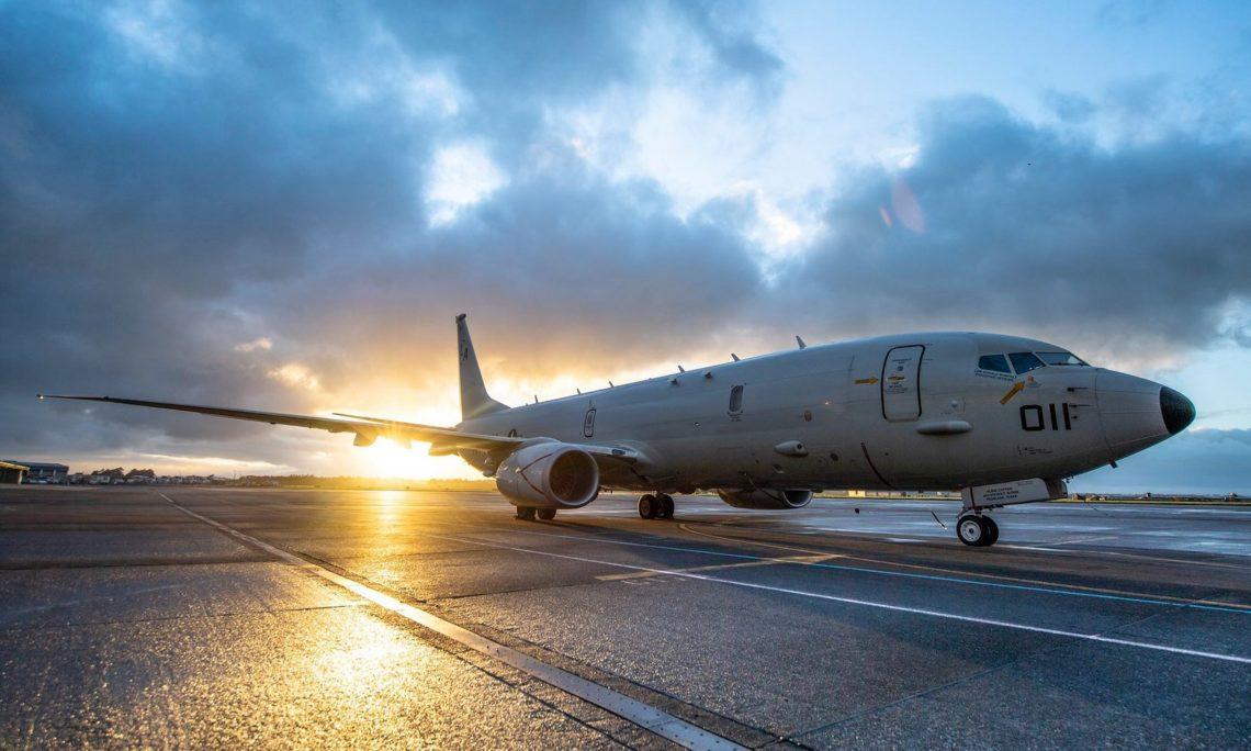 U.S. Navy P-8A Poseidon aircraft from Patrol Squadron (VP) 5 sits on the tarmac at Royal New Zealand Air Force Base Ohakea. (NZDF/Cpl. Naoimi James)
