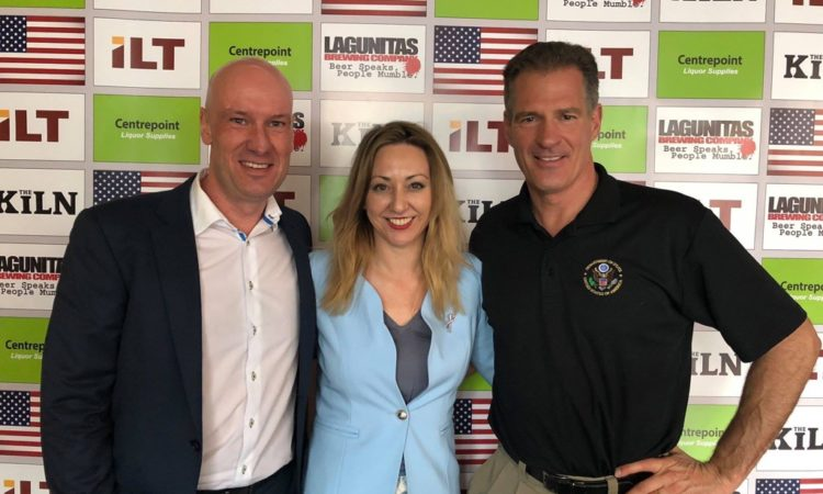 "Ambassador Brown: ""Thanks to the Invercargill Licensing Trust (ILT) for hosting me to launch a :us: craft beer into New Zealand. Great work by the Foreign Agricultural Service to get this program under way. Thanks to Chris from the ILT & MP @nzsarahdowie for showing me parts of the South."""