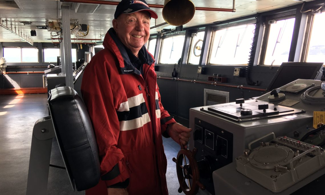 Pete Woodward on board the Polar Star in Wellington. Photo credit: U.S. Department of State.