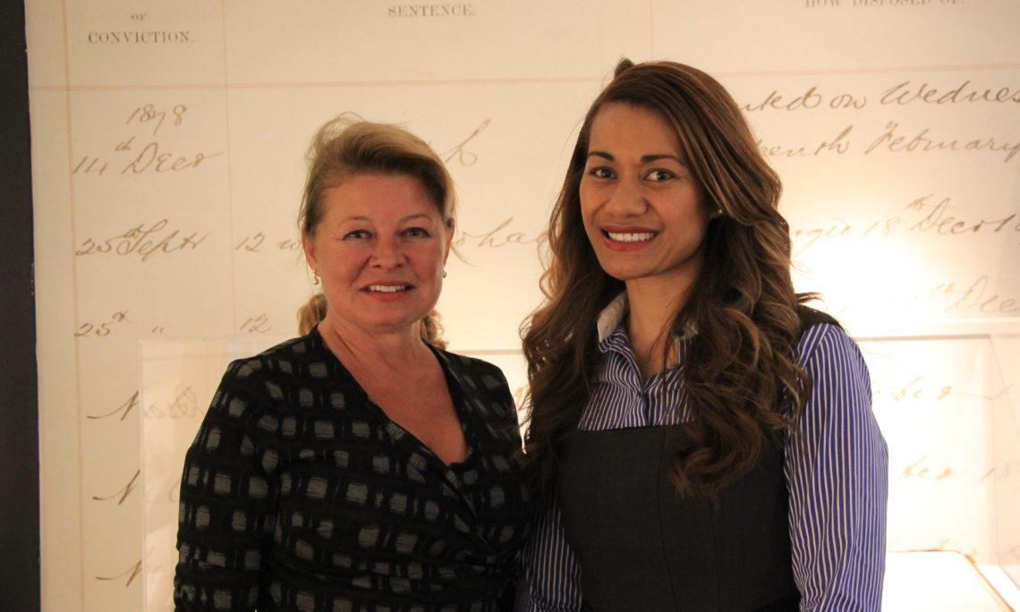 Pacific Woman Leader: Ema Piutau with Gail Brown.