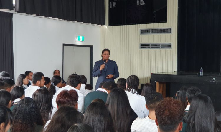 Reyes at Manurewa High School