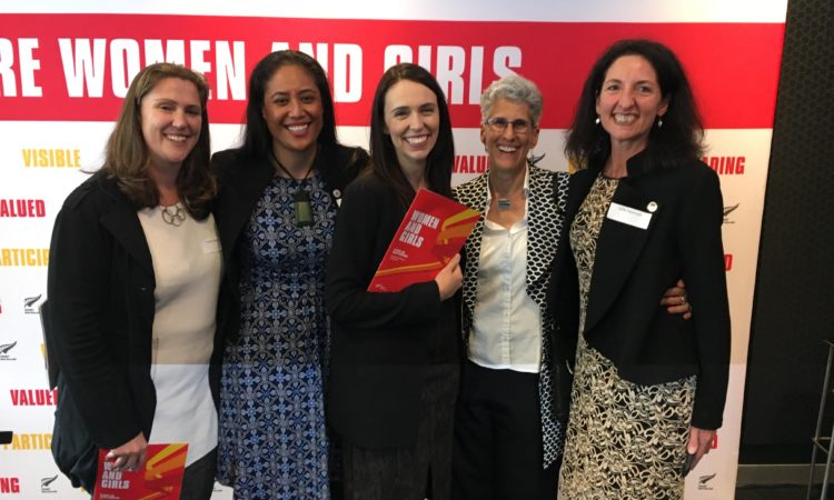 The WISPA Board with Prime Minister Jacinda Ardern. Photo credit: WISPA.