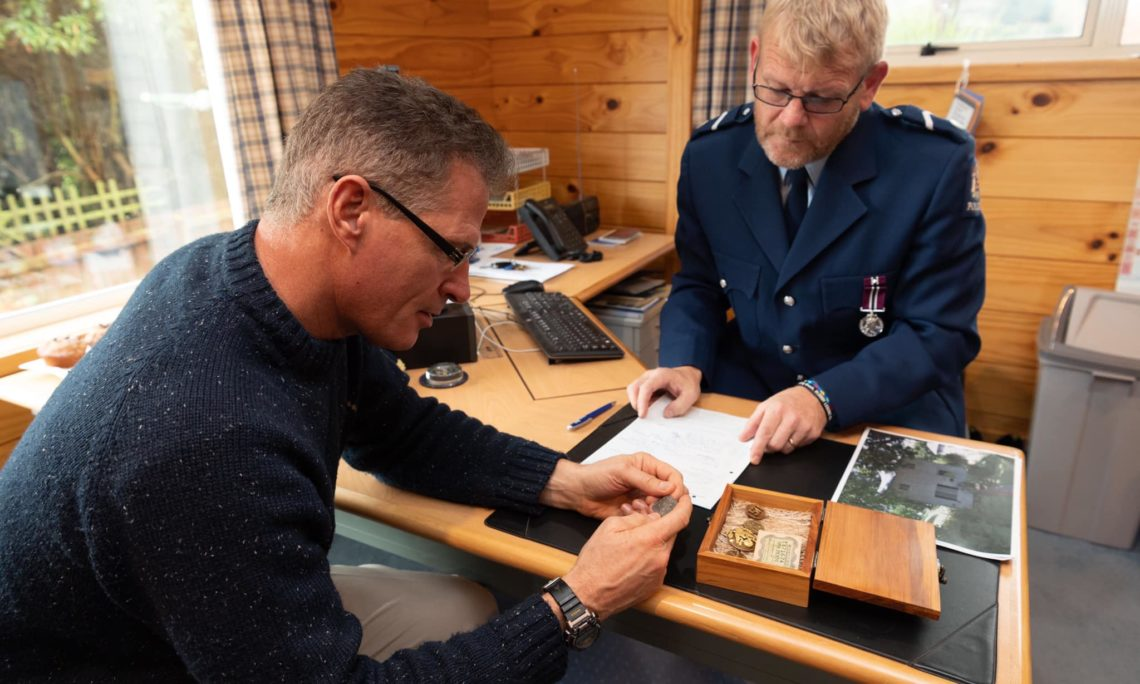 I was honored to receive artifacts of the late 1LT James W Blose, who died on active service in WW2, for return to his family via the U.S. Indo-Pacific Command POW/MIA team. Thanks Snr Const Smith of New Zealand Police. Photo credit: U.S. Department of State.
