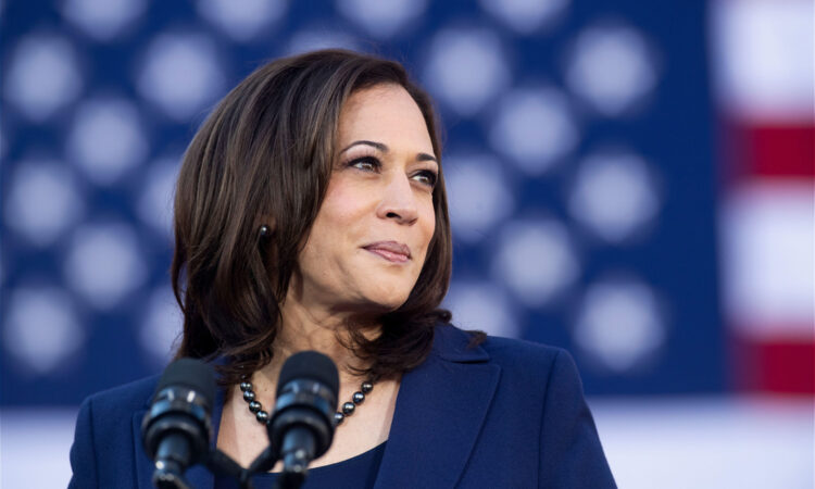 Kamala Harris at a Biden-Harris campaign event in Washington in 2020 (© Nareshkumar Shaganti/Alamy)