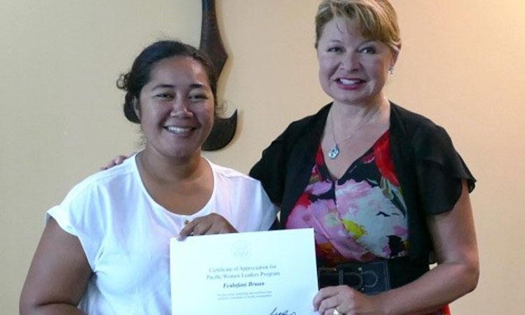 Pacific Woman Leader: Fealofani Bruun. Photo credit: U.S. Department of State.