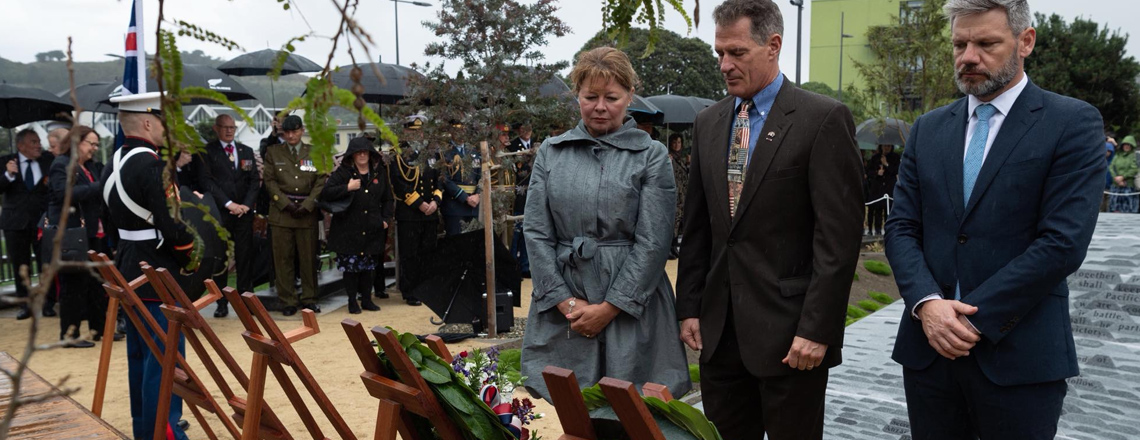 Commemorations in Auckland and Wellington for the 71st annual U.S. Memorial Day