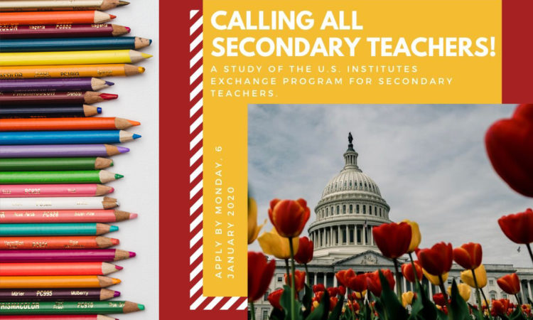 Calling New Zealand-based Secondary School Educators: Apply for a fully funded 2020 exchange program in the United States.