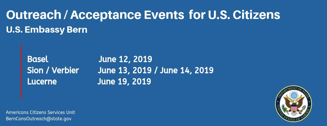 Consular Outreach Events for U.S. Citizens