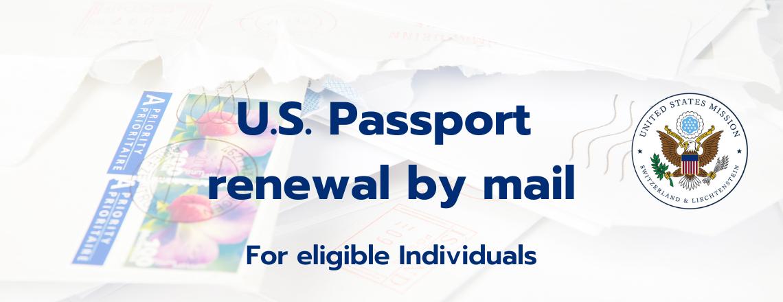 Passport renewal by mail
