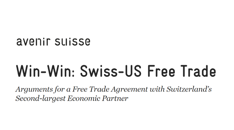 Swiss Study Finds Swiss-U.S. Bilateral Trade Is a Win-Win Situation