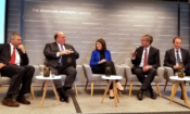 Ambassador McMullen engaged in a public discussion on the trade relations between Switzerland and the United States at the Graduate Institute in Geneva