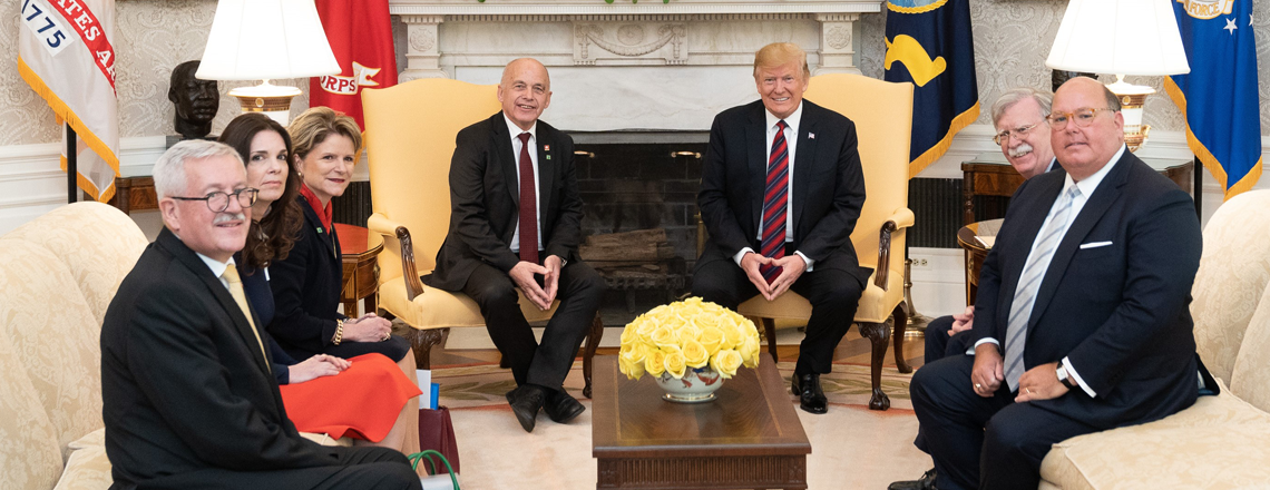 Ambassador McMullen Met with Swiss President Ueli Maurer and President Donald J. Trump
