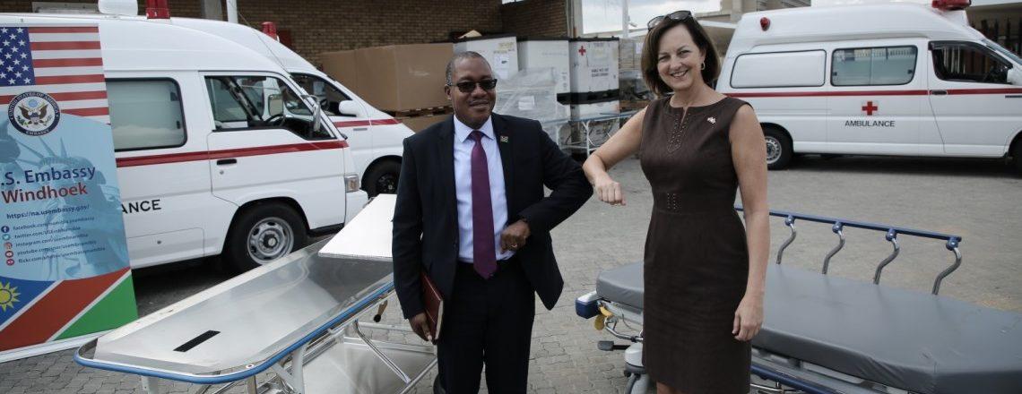 U.S. Embassy Donates Ambulances, Medical Equipment for COVID-19 Response
