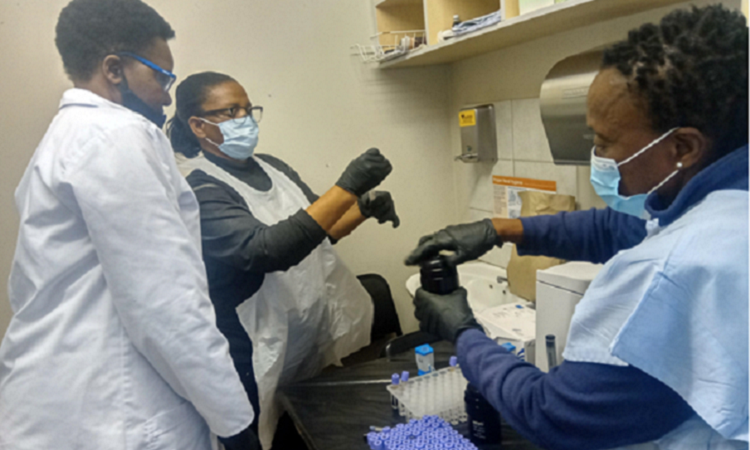 point-of-care viral load testing training at Katutura Health Centre on Wednesday 19 August 2020 web