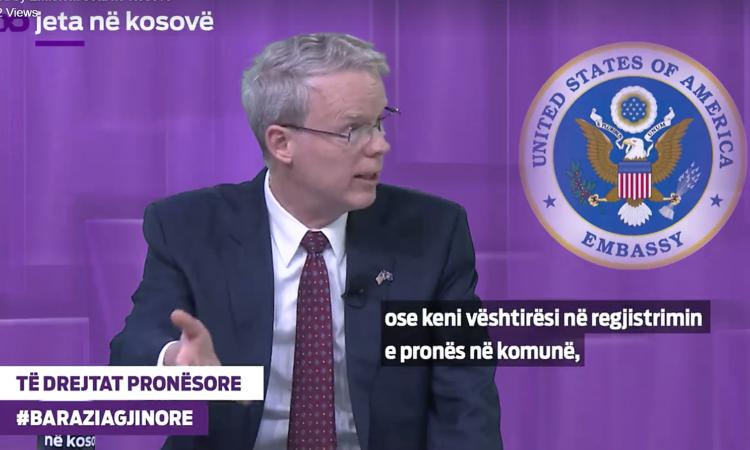 Ambassador Delawie at Jeta ne Kosove