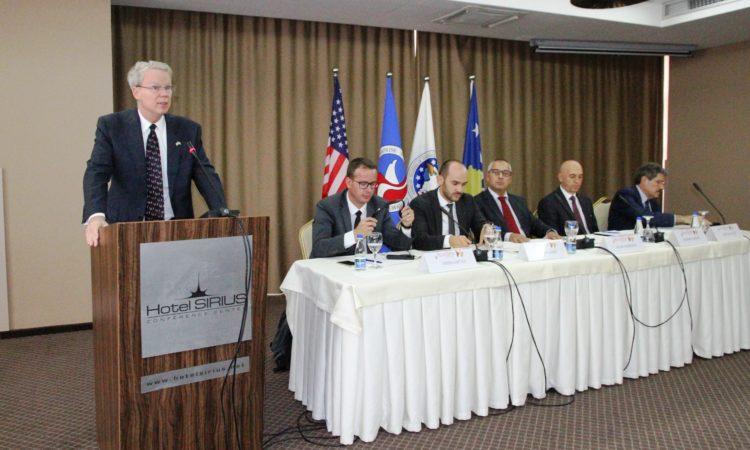 Ambassador Delawie speaking at AmCham Roundtable on Business Ethics and Corruption, September 20, 2016