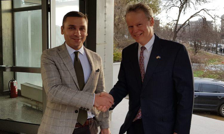 Ambassador Delawie with KTV Adriatik Kelmendi