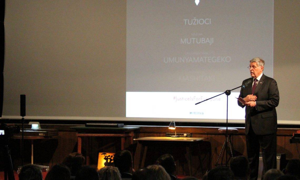 """Ambassador Kosnett's Remarks for Recognition of International Day for the Elimination of Sexual Violence in Conflict, and the Screening of the Documentary, """"The Prosecutors"""""""