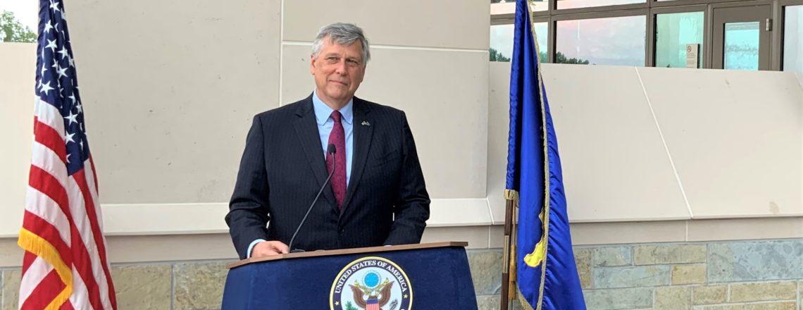 Obraćanje ambasadora Kosneta  povodom  otvaranja nove Ambasade SAD-a