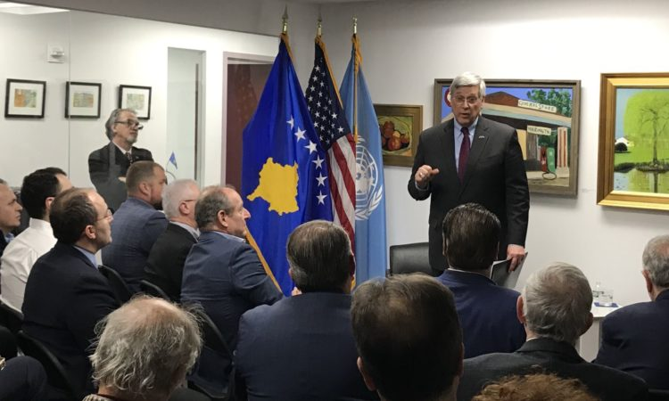 Ambassador Kosnett at the Kosovo Consulate General, New York
