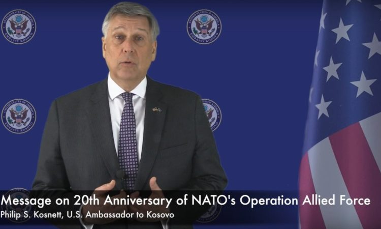Ambassador Kosnett's Message on the 20th Anniversary of NATO's Operation Allied Force