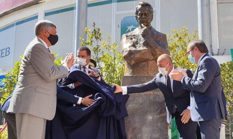 Unveiling of a statue of Senator Bob Dole,