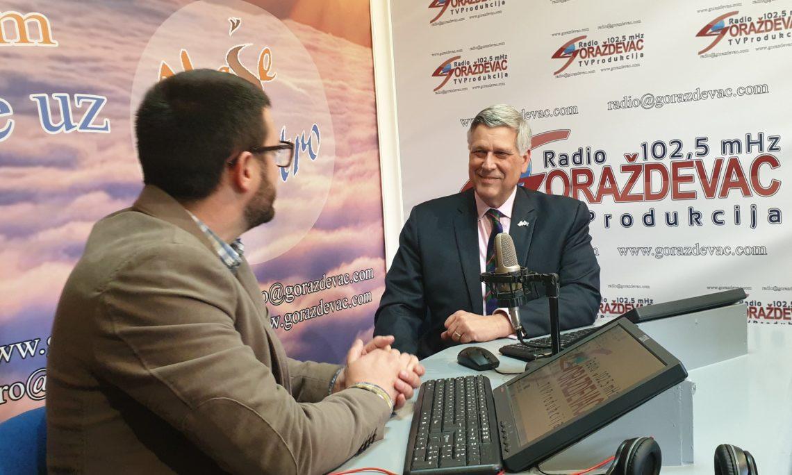 Ambassador Kosnett's Interview with Radio Gorazdevac