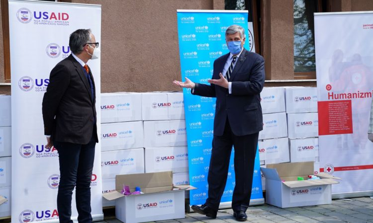 Ambassador Kosnett - distribution of family hygiene Kits