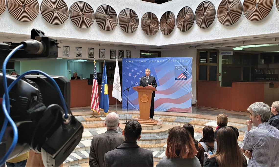 Reopening of the American Corner Pristina