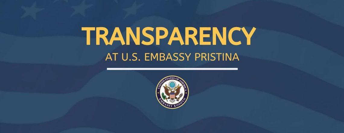 Transparentnost u Ambasadi SAD-a u Prištini