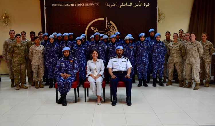 Ambassador Smith and U.S. Military Personnel