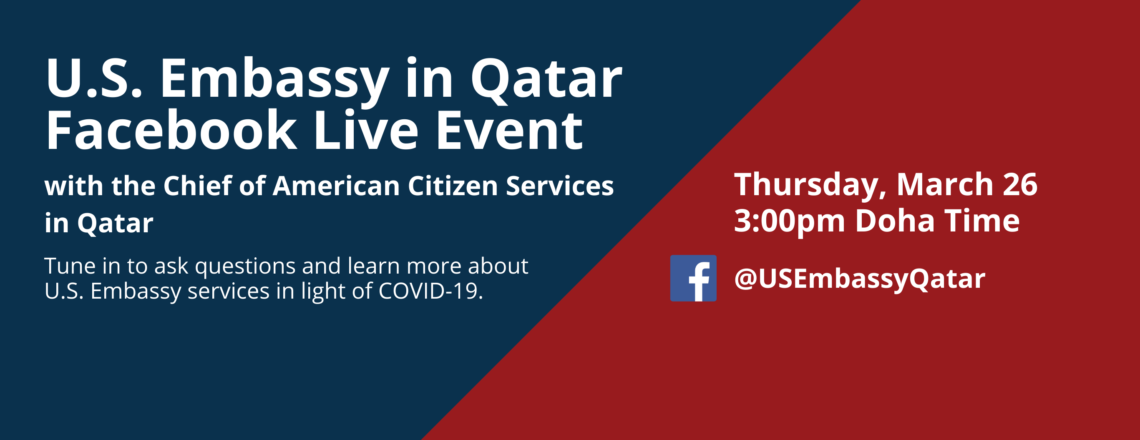 Join us on Thursday, March 26 at 3pm Doha time for the live event